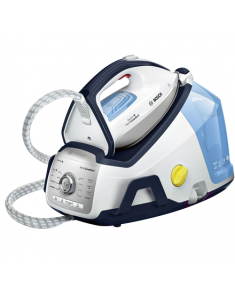 Bosch TDS8060 White/blue, 2400 W, 1.8 L, 7.2 bar, Auto power off, Vertical steam function, Calc-clean function