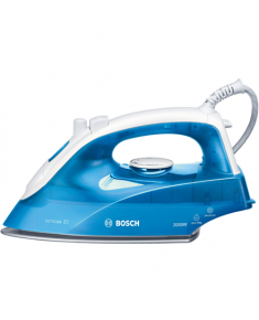 Bosch Iron TDA2610 Blue/ white, 2200 W, Steam iron, Continuous steam 30 g/min, Steam boost performance 90 g/min, Anti-drip function, Anti-scale system, Vertical steam function, Water tank capacity 290 ml
