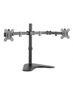 "Logilink BP0045 Dual Monitor Desk Stand 13""-32'' Logilink Desk Mount, BP0045, 13-32 "", Maximum weight (capacity) 8 kg, Black"