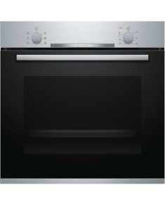 Bosch Oven HBA530BS0S Built-in, 71 L, Stainless steel, Eco Clean, A, Push pull buttons, Height 60 cm, Width 60 cm, Integrated timer, Electric