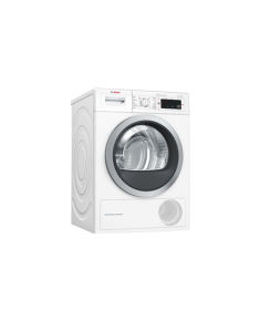 Bosch Dryer mashine WTW8758LSN Condensed, 8 kg, Energy efficiency class A++, Number of programs 12, Self-cleaning, White, Depth 60 cm, LED,
