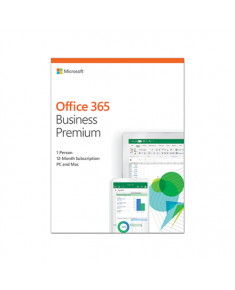 Microsoft KLQ-00392 Office 365 Business Premium Retail, 1 year, Full packaged product (FPP), Russian, Medialess box