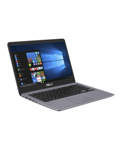 "Asus VivoBook S410UA Grey metal, 14 "", FHD, 1920 x 1080 pixels, Matt, Intel Core i3, i3-7020U, 4 GB, DDR4, HDD 1000 GB, 5400 RPM, Hybrid hard drive (H-HDD) cache memory Intel® Optane 16G M.2 GB, Intel HD, Without ODD, Windows 10 Home, 802.11 ac, Bluetooth version 4.2, Keyboard language English, Russian, Keyboard backlit, Battery warranty 12 month(s)"