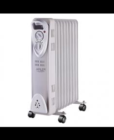 Adler AD 7808 Oil Filled Radiator, Number of power levels 2, 2000 W, Number of fins 9, White