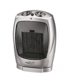 Adler AD 7703 Fan heater, Number of power levels 2, 750/ 1500 W, Silver