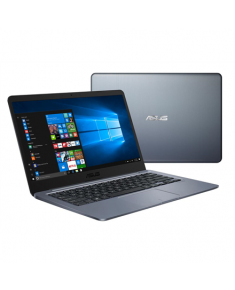 "Asus VivoBook R420MA Gray, 14.0 "", HD, 1366 x 768 pixels, Matt, Intel Celeron, N4000, 4 GB, DDR4, Storage drive capacity 64 GB, Intel HD, Without ODD, Windows 10 Home S, 802.11 ac, Bluetooth version 4.2, Keyboard language Nordic, Battery warranty 12 month(s)"