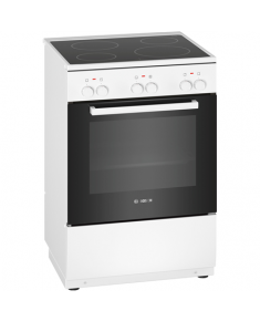 Bosch Cooker HKA050020U Hob type Vitroceramic, Oven type Electric, White, Width 60 cm, Electronic ignition, Grilling, 71 L, Depth 60 cm