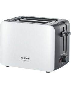 Bosch Toaster ComfortLine TAT6A111 White, 1090 W, Number of slots 2, Number of power levels 6, Bun warmer included
