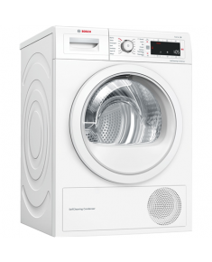 Bosch Dryer mashine WTW875L8SN Condensed, Sensitive dry, 8 kg, Energy efficiency class A++, Number of programs 12, Self-cleaning, White, LED, Depth 60 cm,