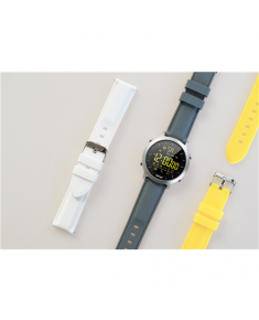 Sponge Surfwatch Straps, Special anti-allergic rubber material, White, grey, yellow