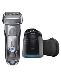 Braun Electric Shaver 7790cc Wet use, Rechargeable, Charging time 1 h, Li-Ion, Battery, Number of shaver heads/blades 4, Silver/ black