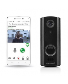 Smartwares Smart Video Doorbell DIC-23216 Wi-Fi, Black, 720P HD, Night vision