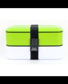 Yoko Design 1627/8077 Lunch Box VERT, BPA Free, Capacity 1,2 L, White/Green