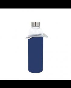 Yoko Design Glass Bottle with sleeve 1645 Blue, Capacity 0.5 L, Dishwasher proof, Yes