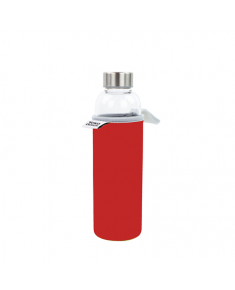 Yoko Design Glass Bottle with sleeve 1646 Red, Capacity 0.5 L, Dishwasher proof, Yes