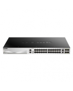 D-Link DGS-3130-30S Switch Managed L2+, Rack mountable, 10 Gbps (RJ-45) ports quantity 2, SFP ports quantity 24, SFP+ ports quantity 4, Power supply type Optional redundant