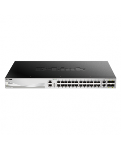 D-Link DGS-3130-30TS Switch Managed L2+, Rack mountable, 1 Gbps (RJ-45) ports quantity 24, 10 Gbps (RJ-45) ports quantity 2, SFP+ ports quantity 4, Power supply type Optional redundant