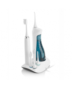 ETA Oral care centre  (sonic toothbrush+oral irrigator) ETA 2707 90000 Sonic toothbrush, White, Sonic technology, 3 cleaning modes: intensive, gentle and massage, Number of brush heads included 3