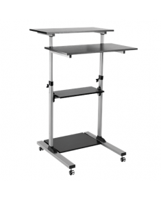 Logilink Compact mobile stand up computer workstation BP0070, Maximum weight (capacity) 60 kg, Black/Grey