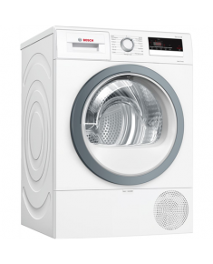Bosch Dryer mashine WTR85VS8SN Condensed, Sensitive dry, 8 kg, Energy efficiency class A++, Self-cleaning, White, LED, Depth 60 cm,