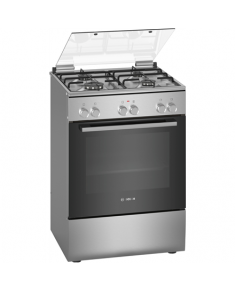 Bosch Cooker HXA090D51 Hob type Gas, Oven type Electric, Stainless steel, Width 60 cm, Electronic ignition, 66 L, Depth 60 cm