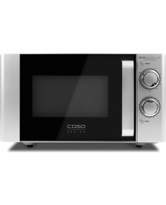 Caso Ecostyle Ceramic 03316 Microwave oven with grill, Grill, Intuitive control using rotary knobs, 700 W, Black/Silver, Defrost function