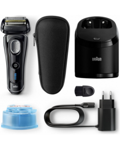 Braun 9-9250cc Series 9 Electric Shaver, Wet/Dry, Cordless, Operating time 50 min, Black