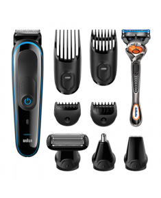 Braun 9-In-1 Trimmer MGK 3085 Wet use, Rechargeable, Nose trimmer included, Charging time 1 h, Battery life 1 h, Black