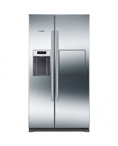 Bosch Refrigerator KAG90AI20 Free standing, Side by Side, Height 177 cm, A+, No Frost system, Fridge net capacity 359 L, Freezer net capacity 163 L, Display, 43 dB, Stainless steel