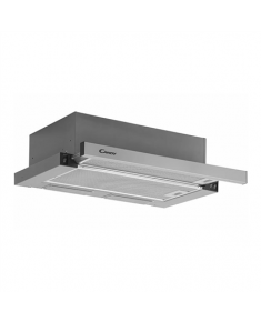 Candy Hood CBT6240/1LX Mechanical, Width 60 cm, 262 m³/h, Inox, Energy efficiency class C, 59 dB, Built-in telescopic