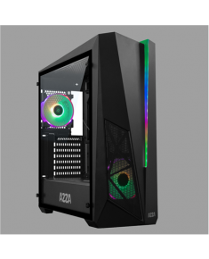 AZZA THOR 320 DH Side window, Black, ATX, Power supply included No