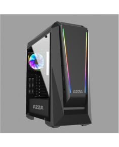 AZZA Chroma 410A Side window, Black, ATX, Power supply included No