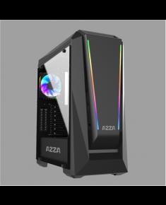 AZZA Chroma 410A Side window, Black, ATX, Power supply included No