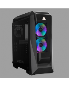 AZZA Chroma 410B Side window, Black, ATX, Power supply included No