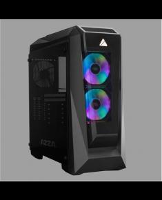 AZZA Chroma 410B Side window, Black, ATX, Power supply included No