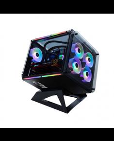 AZZA Cube 802F with digital RGB Fan Side window, Black, ATX, Power supply included No