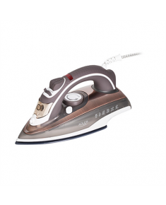 Adler Steam iron AD 5030 Brown, 3000 W, Steam, Continuous steam 20 g/min, Anti-drip function, Anti-scale system, Water tank capacity 310 ml
