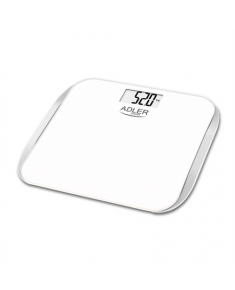 Adler Bathroom scales AD 8164 Maximum weight (capacity) 180 kg, Accuracy 100 g, Multiple user(s), White,