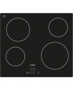 Bosch Hob PKE611B17E Vitroceramic, Number of burners/cooking zones 4, Black, Display, Timer