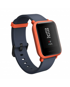 Amazfit Bip Smart watch, GPS (satellite), Reflective color display screen, Touchscreen, Heart rate monitor, Activity monitoring 24/7, Bluetooth, Red