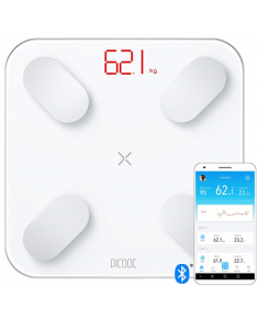 PICOOC Smart scale Mini Maximum weight (capacity) 150 kg, Body Mass Index (BMI) measuring, White