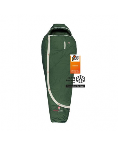 Gruezi-Bag Biopod DownWool Nature, Sleeping bag, 215x80(50) cm, +6/+1/-13 °C, Green