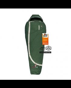 Gruezi-Bag Biopod DownWool Nature, Sleeping bag, 215x80(50) cm, +6/+1/-13 °C, Green