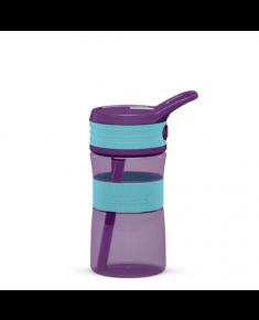 Boddels EEN Drinking bottle Bottle, Turqouise blue/ Purple, Capacity 0.4 L, Bisphenol A (BPA) free