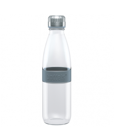 Boddels DREE Drinking bottle, glass Bottle, Light grey, Capacity 0.65 L, Bisphenol A (BPA) free