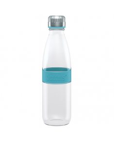 Boddels DREE Drinking bottle, glass Bottle, Turquoise blue, Capacity 0.65 L, Bisphenol A (BPA) free