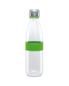 Boddels DREE Drinking bottle, glass Bottle,  Apple green, Capacity 0.65 L, Bisphenol A (BPA) free