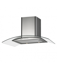CATA Hood GAMMA 600 Wall mounted, Energy efficiency class A, Width 60 cm, 340 m³/h, Mechanical control, LED, Stainless steel