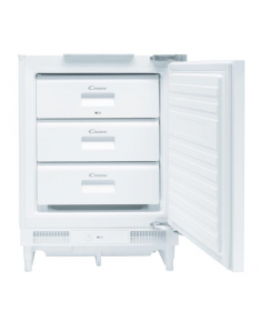 Candy Freezer CFU 135/1 E Upright, Height 82 cm, A+, Freezer number of shelves/baskets 4, White, Free standing