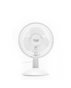 Adler AD 7301 Table Fan, Number of speeds 2, 30 W, Diameter 15 cm, White